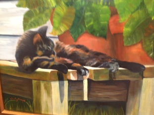 Cat Napping $735 18X15