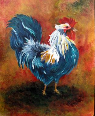 Mr. Wythe's Rooster $675 14X17
